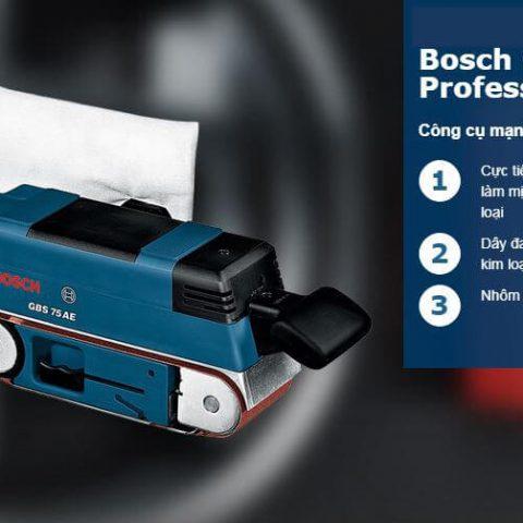 Đặc tính nổi trội của dòng máy chà nhám bằng Bosch GBS 75 A