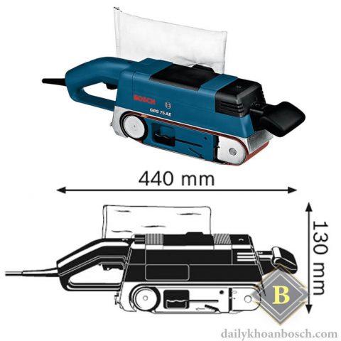 Máy chà nhàm băng Bosch GBS 75 A nhỏ gọn nhiều tiện lợi