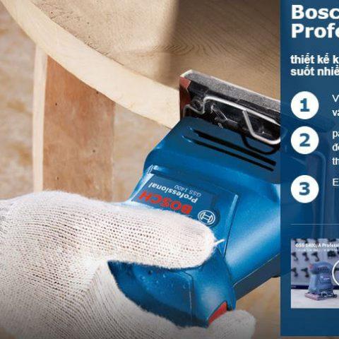 Đặc tính nổi trội của mày chà nhám vuông Bosch GSS 1400