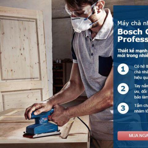 Đặc tính nổi trội từ dòng máy chà nhám vuông Bosch GSS 2300