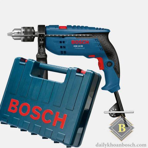 Bosch GSB 16 RE được trang bị hộp nhựa chắc chắn