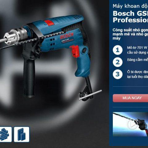 Đặc tính nổi bật của dòng máy khoan động lực Bosch GSB 16 RE