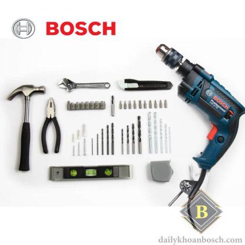 Các phụ kiện bên trong SET khoan Bosch GSB 13 RE SET