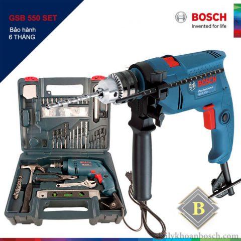 Bộ máy khoan động lực Bosch GSB 550 SET tiện dụng cho các nhu cầu sửa chữa trong gia đình