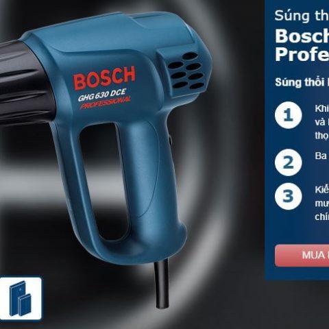 Đặc tính nổi trội của dòng máy thổi hơi nóng Bosch GHG 630 DCE