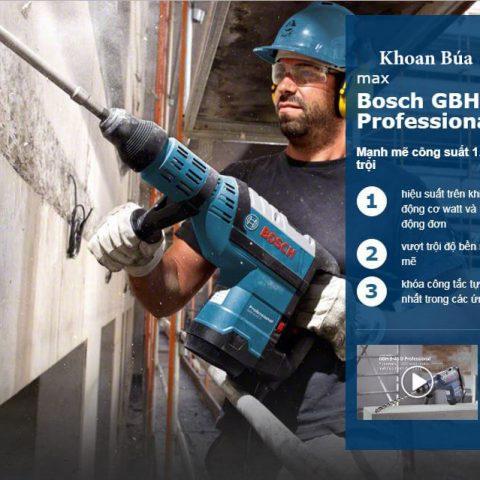 Đặc tính nổi trội của dòng máy khoan búa GBH 8-45 D