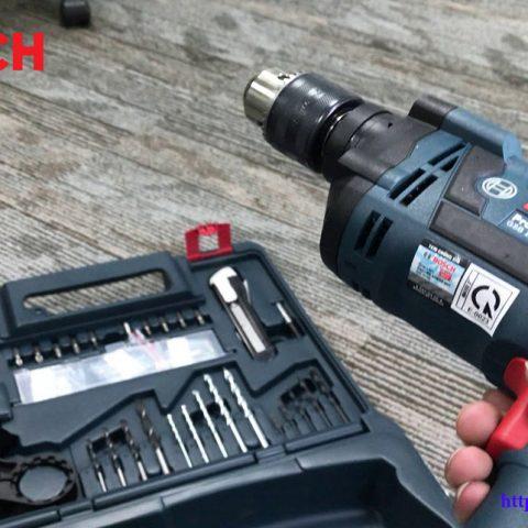 Hình ảnh thực tế bộ máy khoan gia đình 100 chi tiết Bosch GSB 13 RE SET