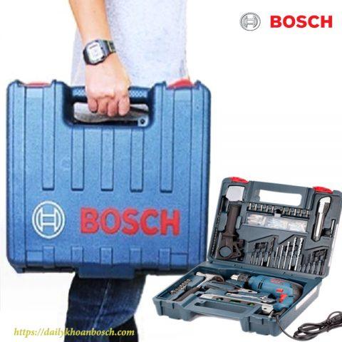 Bộ SET khoan gia đình 100 món Bosch GSB 550 SET nhỏ gọn