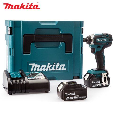 Trọn bộ sản phẩm máy vặn vít dùng pin cầm tay Makita DTD152RME